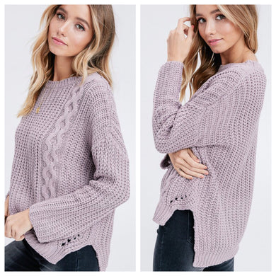 Lavender Lisa Knit Sweater