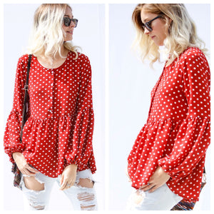 Allison Polka Dot Tunic