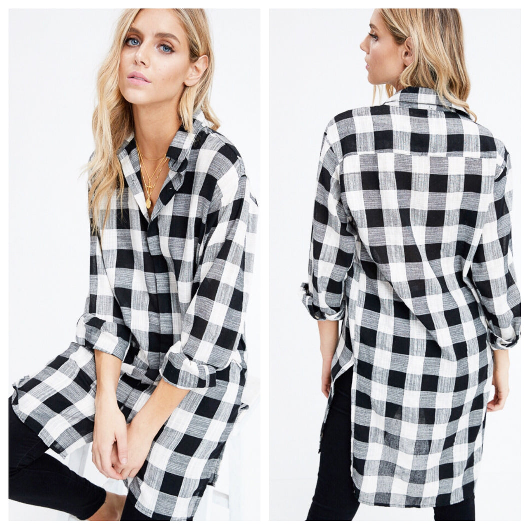 Flynner Plaid Tunic