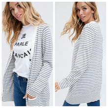 Abby Striped Cardigan