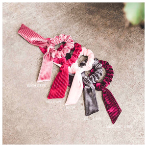 Velvet Bow Hair Scrunchie