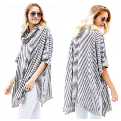 Sedona Striped Poncho Sweater