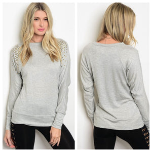 ***ON SALE*** Courtney Long Sleeve Grommet Tee