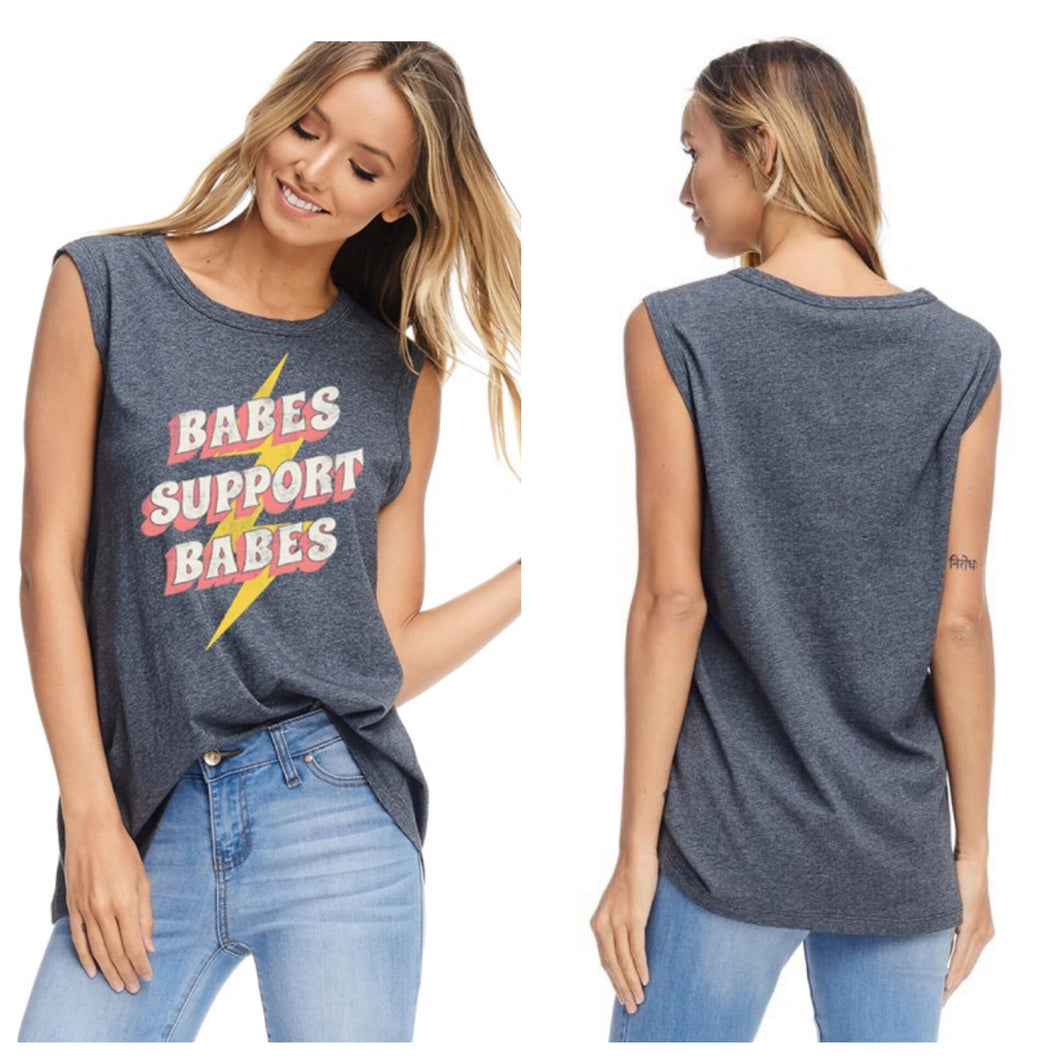 Babes Support Babes Muscle Tee