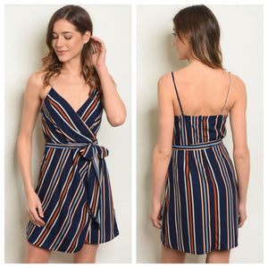 Victoria Striped Tie Dress