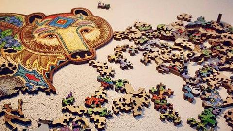 A wooden jigsaw puzzle by Liberty Puzzles