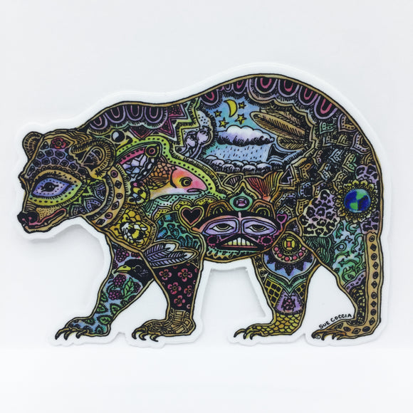 Black Bear Vinyl Sticker