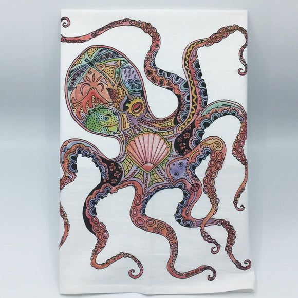 Octopus Flour Sack Towel