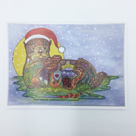 Sea Otter Holiday Card