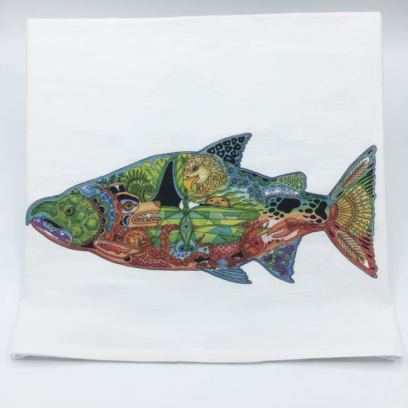 Chinook Salmon Flour Sack Towel