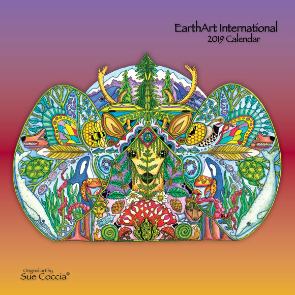 2019 EarthArt International Coloring Calendar by Sue Coccia