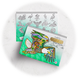 Winged Critters 2 Coloring Book