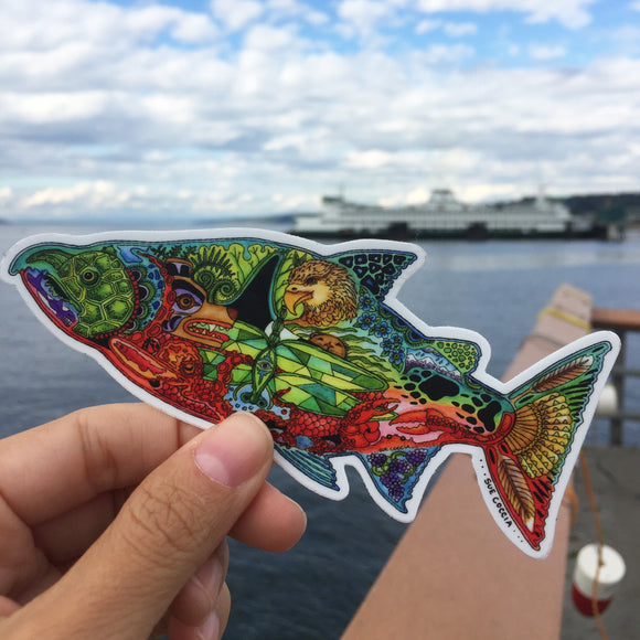 Chinook Salmon Vinyl Sticker