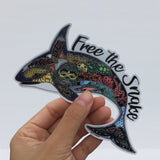 """ Free The Snake "" Orca Sticker. 100% of the proceeds from this sticker will go to the Center for Whale Research"