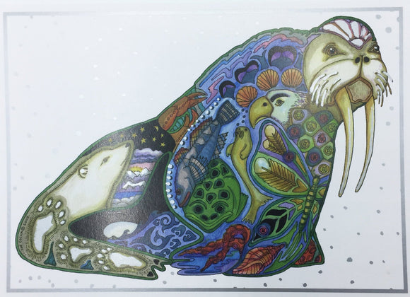 Walrus Holiday Card