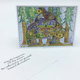 Raven Bear Holiday Boxed Card Set (8)