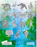 Tropical Critters Coloring Book