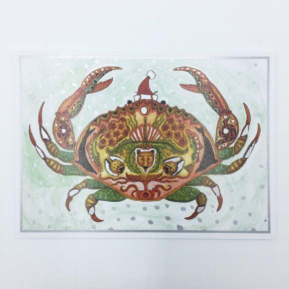 Crab Holiday Card
