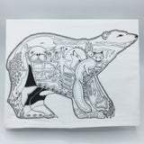 Polar Bear Flour Sack Towel