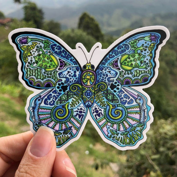 Blue Morpho Butterfly Sticker