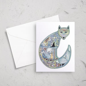 Arctic Fox Note Card