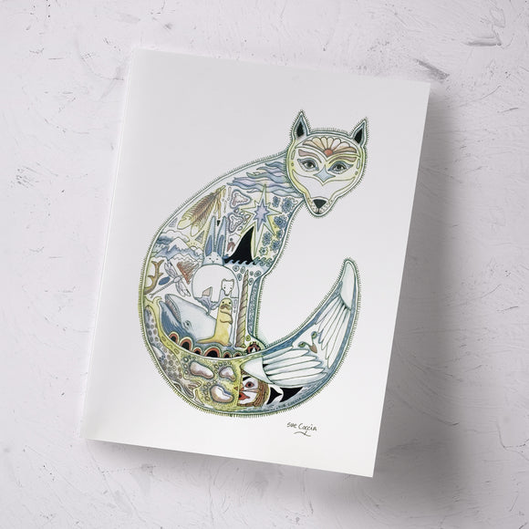 Arctic Fox Signed Print