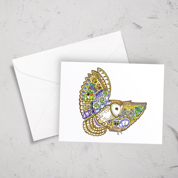 Barn Owl Note Card