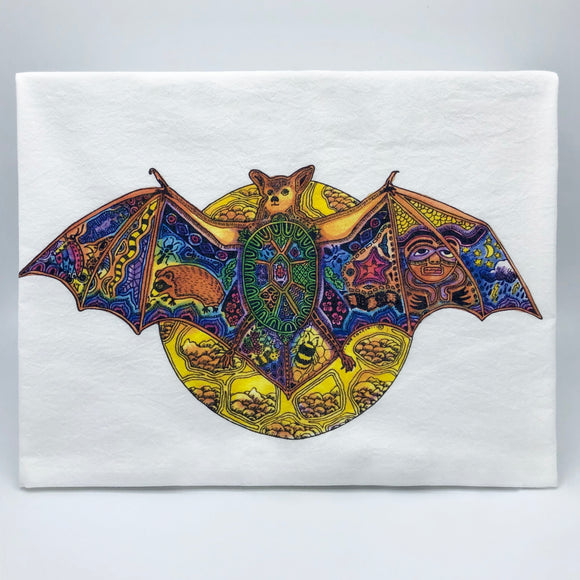 Bat Flour Sack Towel