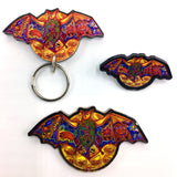 Bat Magnets, Keychains and Pins