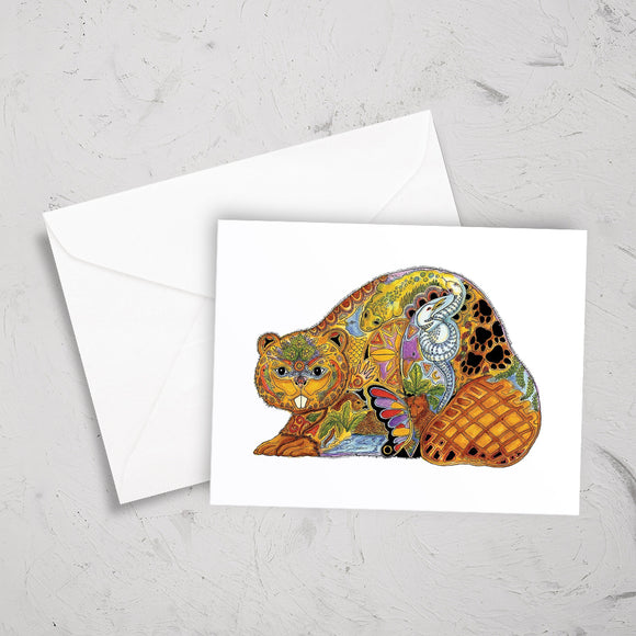 Beaver Note Card
