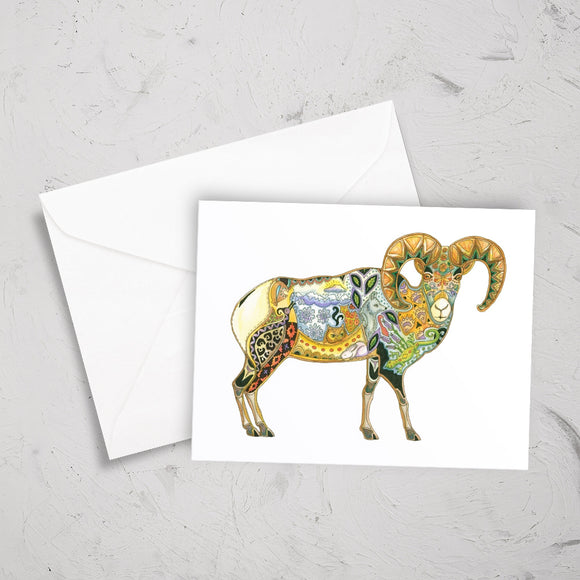Big Horn Sheep Note Card