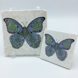 Blue Morpho Coasters and Trivets