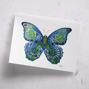 Blue Morpho Signed Print