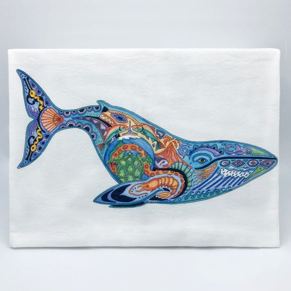 Blue Whale Flour Sack Towel