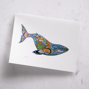 Blue Whale Signed Print