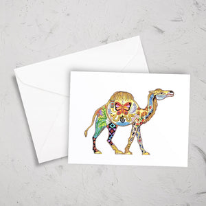 Camel Note Card