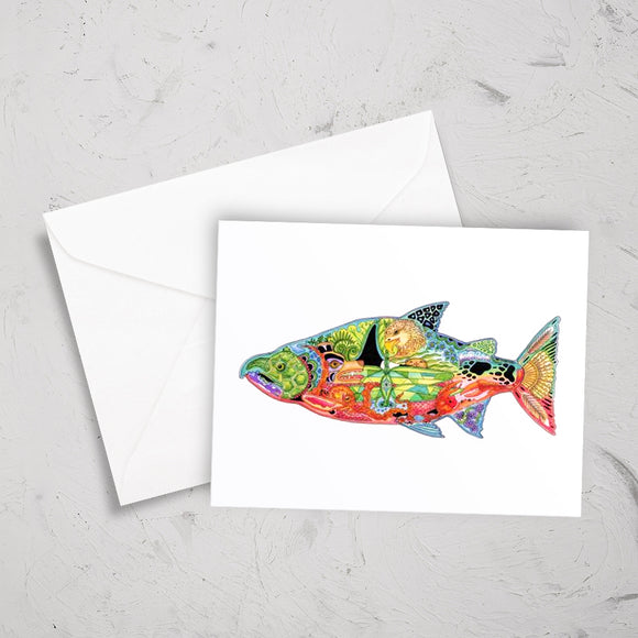 Chinook Salmon Note Card