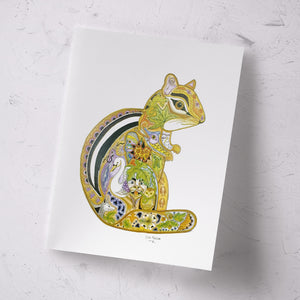 Chipmunk Signed Print