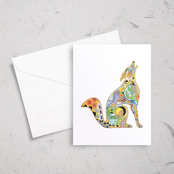 Coyote Note Card
