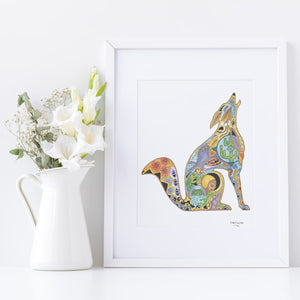 Coyote Signed Print