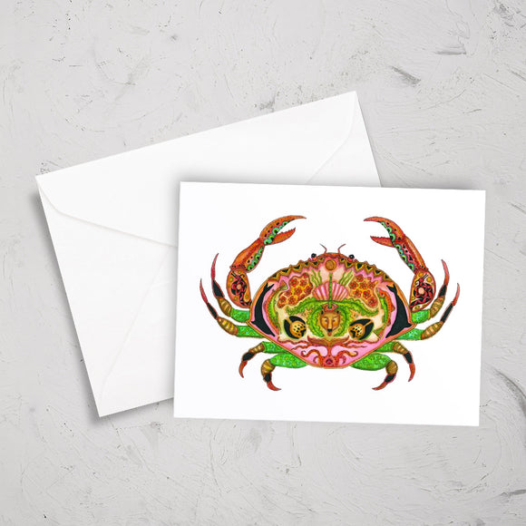 Crab Note Card