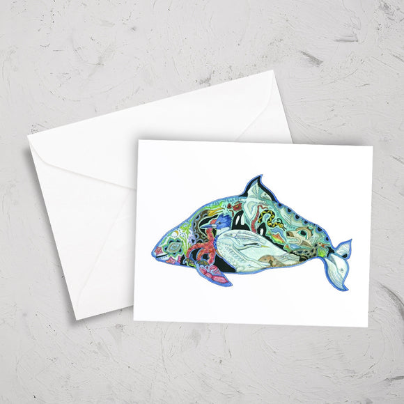 Dall's Porpoise Note Card