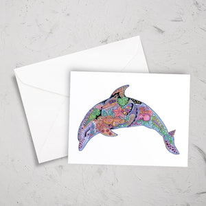 Dolphin Note Card