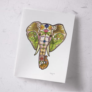 Mabula Elephant head Signed Print