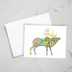 Elk Note Card