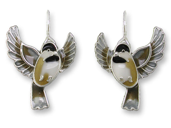 Flying Chickadee Earrings