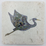 Flying Blue Heron Coasters and Trivets