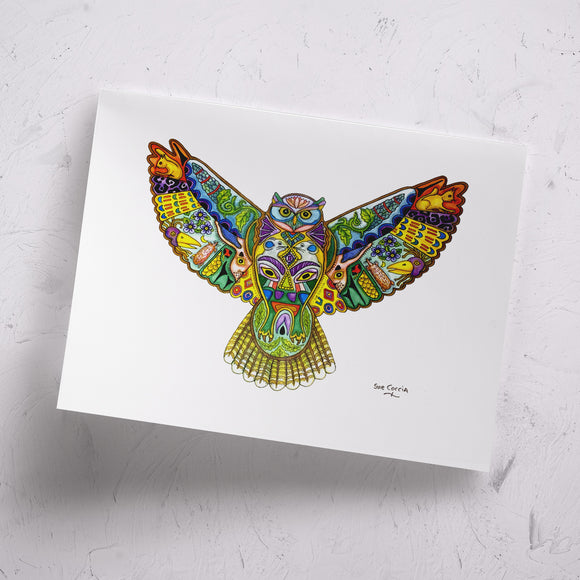 Great Horned Owl Signed Print