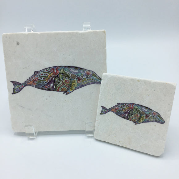 Gray Whale Coasters and Trivets