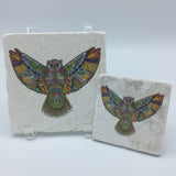 Great Horned Owl Coasters and Trivets